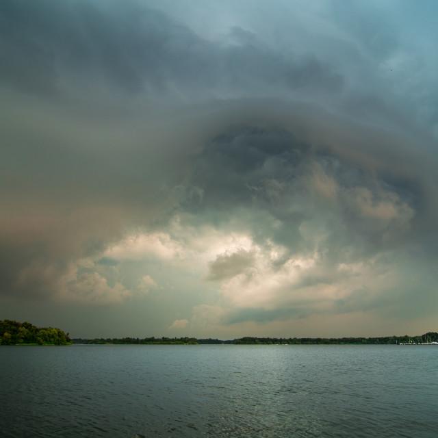 """Summer thunderstorm"" stock image"