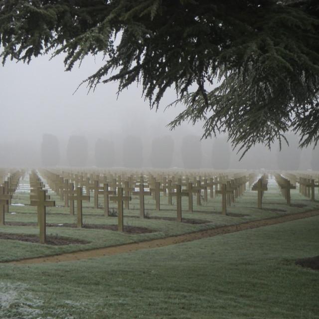 """War Graves in Verdun"" stock image"