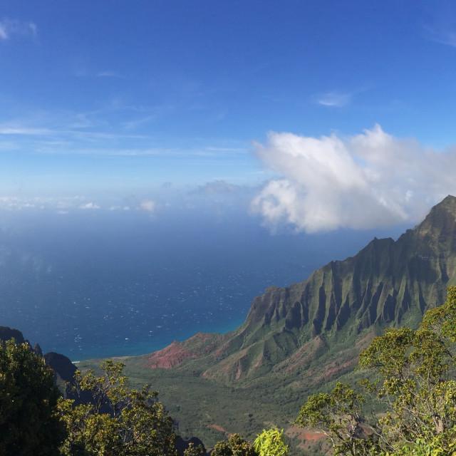 """""""Kauai's Nā Pali Coast State Park"""" stock image"""