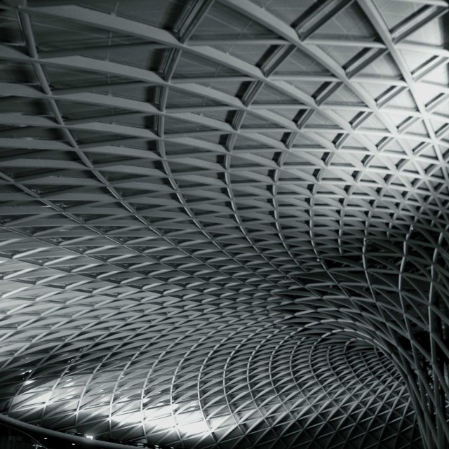 """Kings Cross Train Station, London"" stock image"