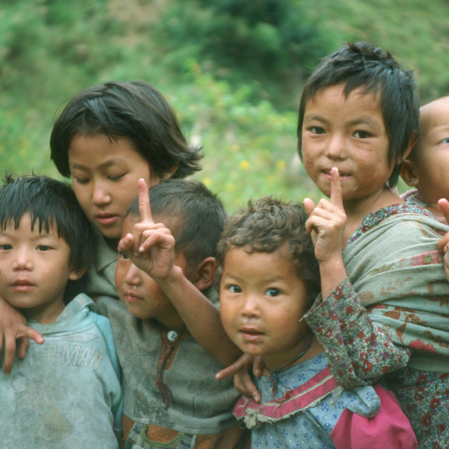 """Children of the Himalaya's"" stock image"