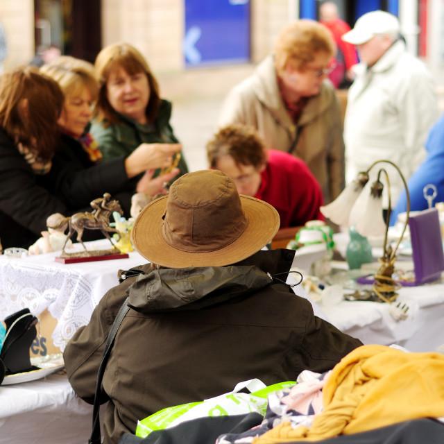 """Chesterfield Market,Derbyshire,UK."" stock image"