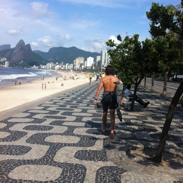 """Brazilian surf"" stock image"