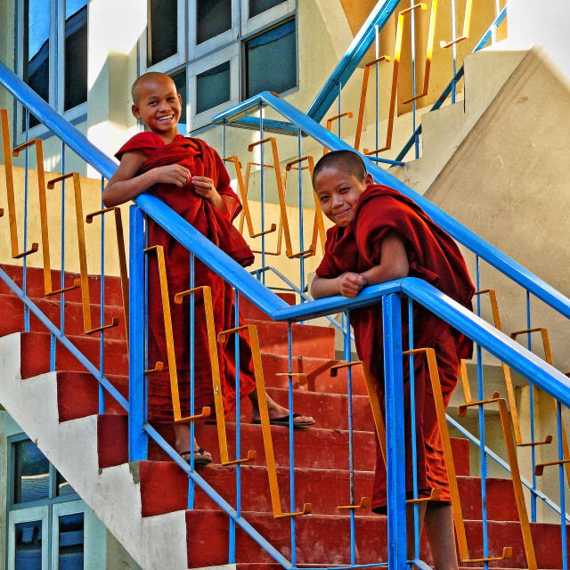 """NYAUNGSHWE NOVICES"" stock image"