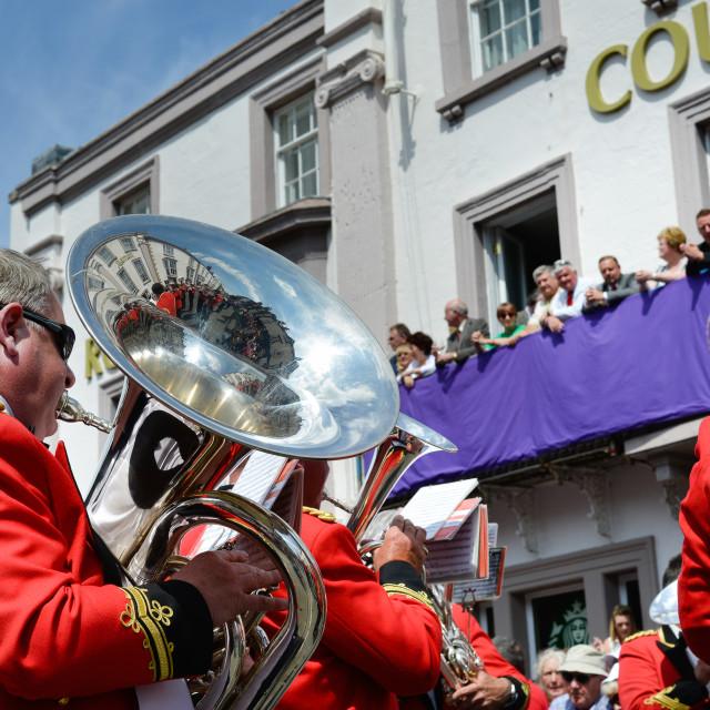 """Brass Band playing"" stock image"
