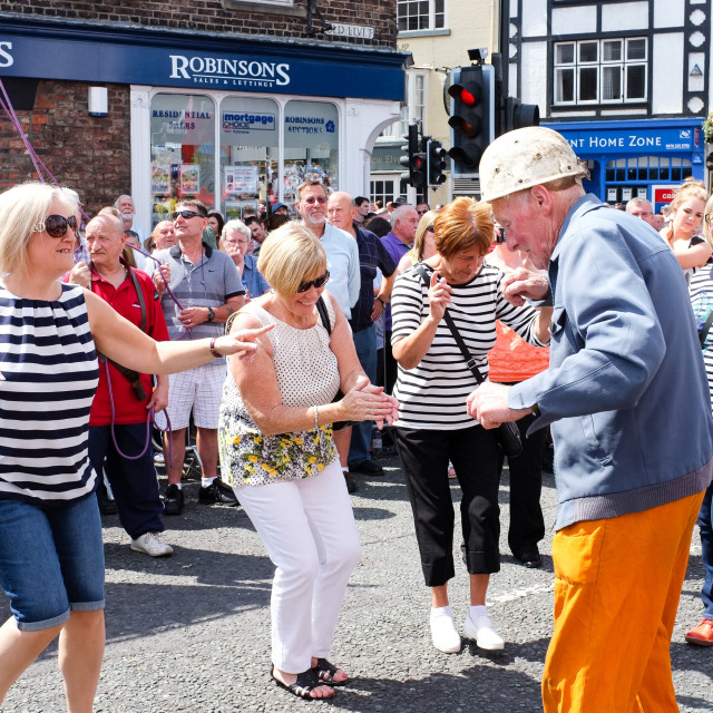 """Dancing in the Street at the Durham Miners Gala"" stock image"