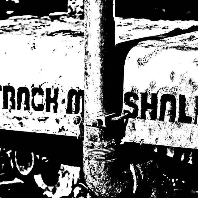 """Track Marshalll Beach Tractor"" stock image"