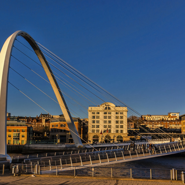"""Gateshead Millennium Bridge"" stock image"