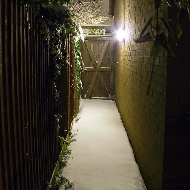 """Snowy passage"" stock image"