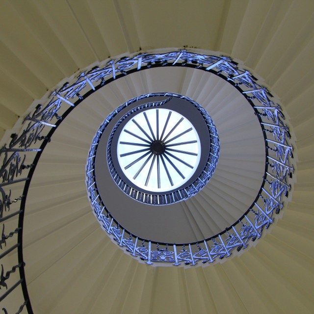 """""""Tulip staircase, Greenwich"""" stock image"""
