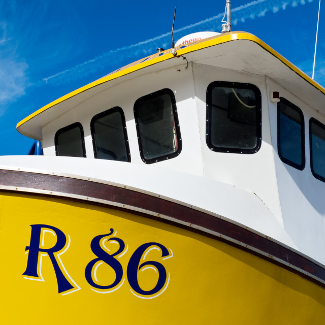 """Yellow Fishing Boat"" stock image"