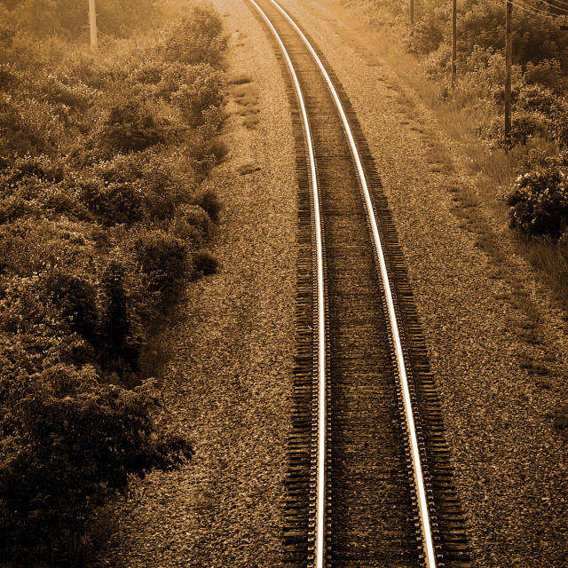 """Tracks to the other side"" stock image"