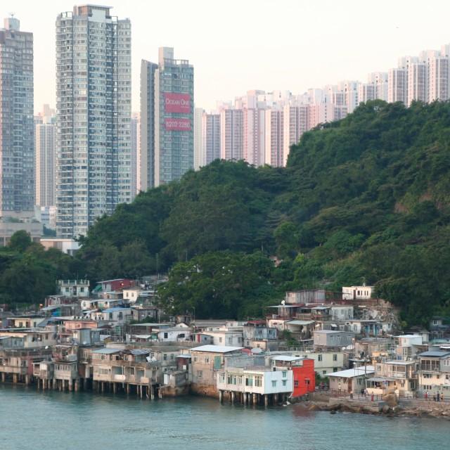 """""""Old and new Hong Kong"""" stock image"""