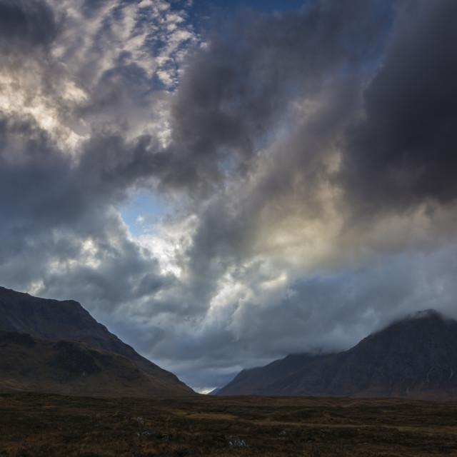 """""""Stormy Rannoch Moor"""" stock image"""