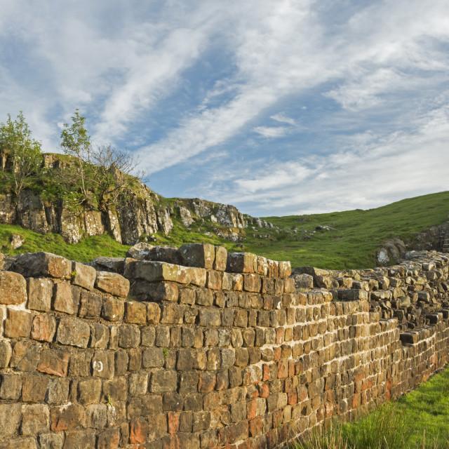 """""""Wall at Walltown"""" stock image"""