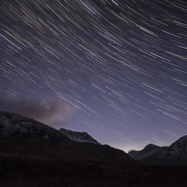 """Scottish Star Trail"" stock image"