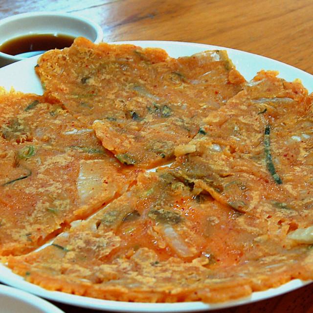 """Kimchi pancake"" stock image"