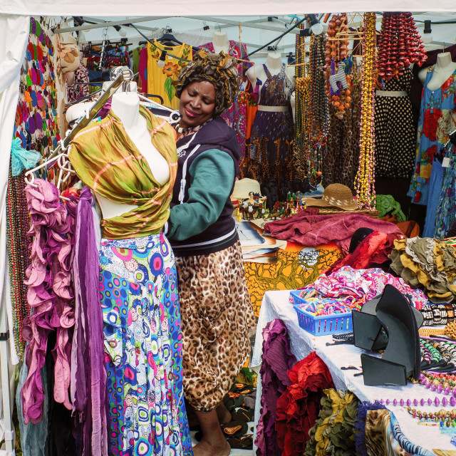 """African stall"" stock image"