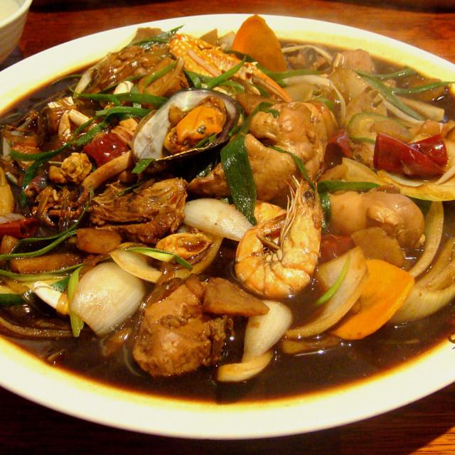 """""""Seafood Jjimdak"""" stock image"""