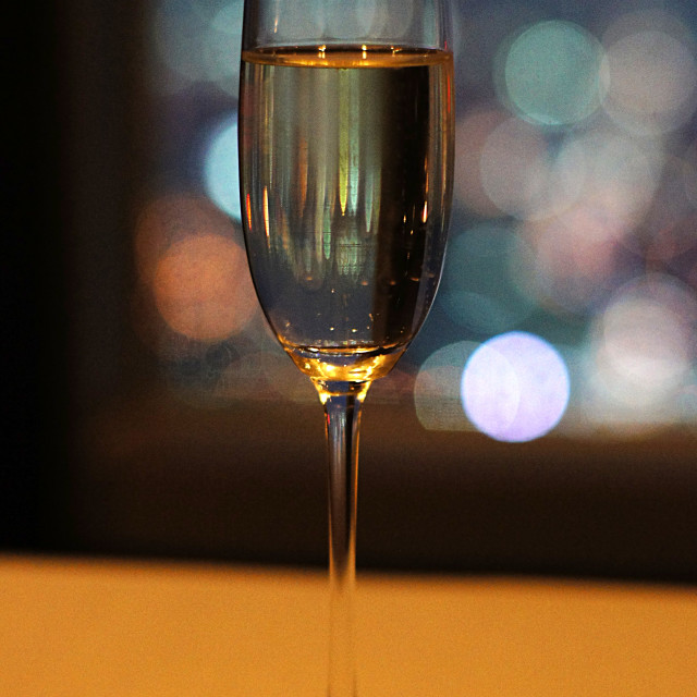 """A glass of champagne"" stock image"