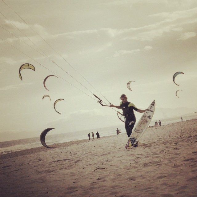 """Kite Surfing Paradise"" stock image"