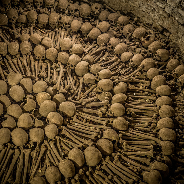 """The Monastery of San Francisco Skulls"" stock image"
