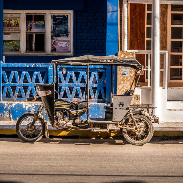 """The Tuk Tuk Streets of Mancora, Peru."" stock image"