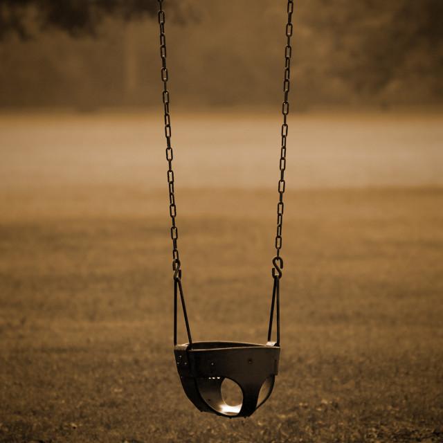 """""""Empty Swing"""" stock image"""