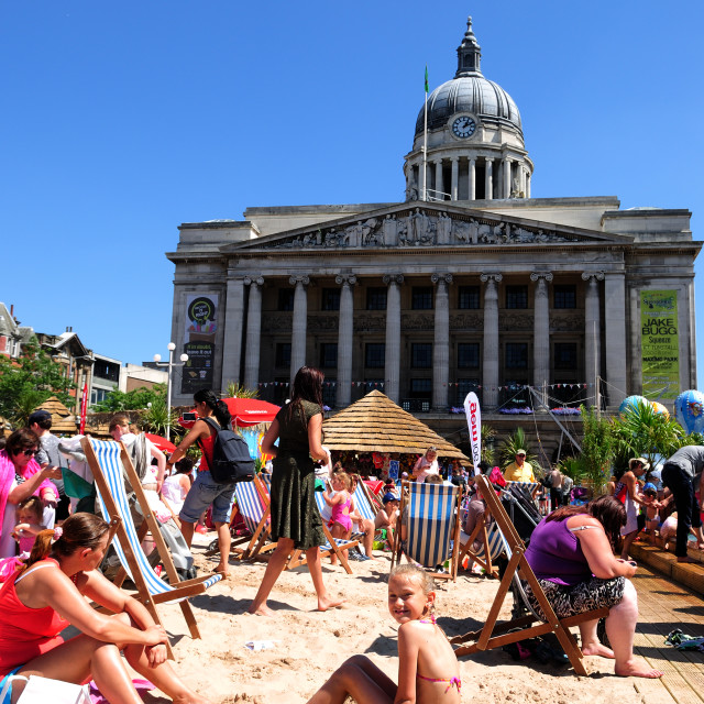 """Nottingham Riviera .UK"" stock image"