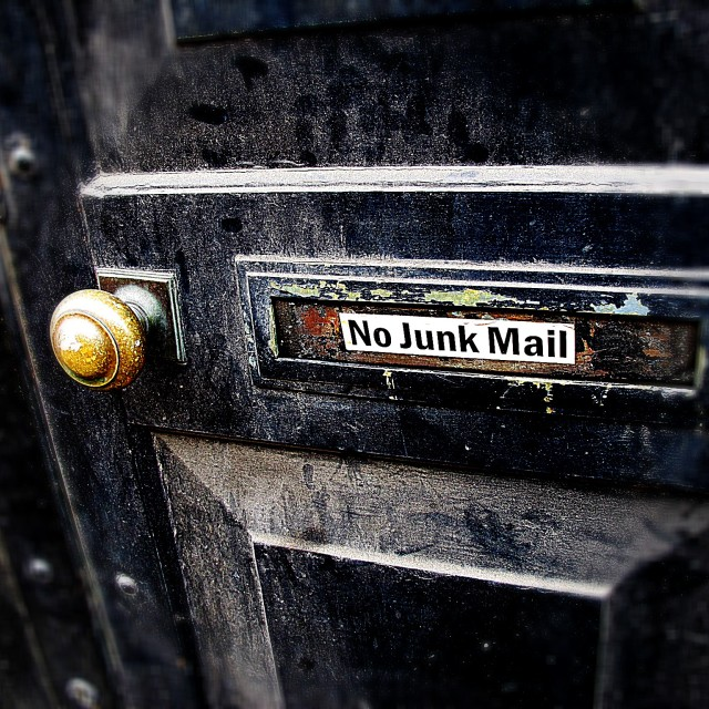 """No Junk Mail"" stock image"