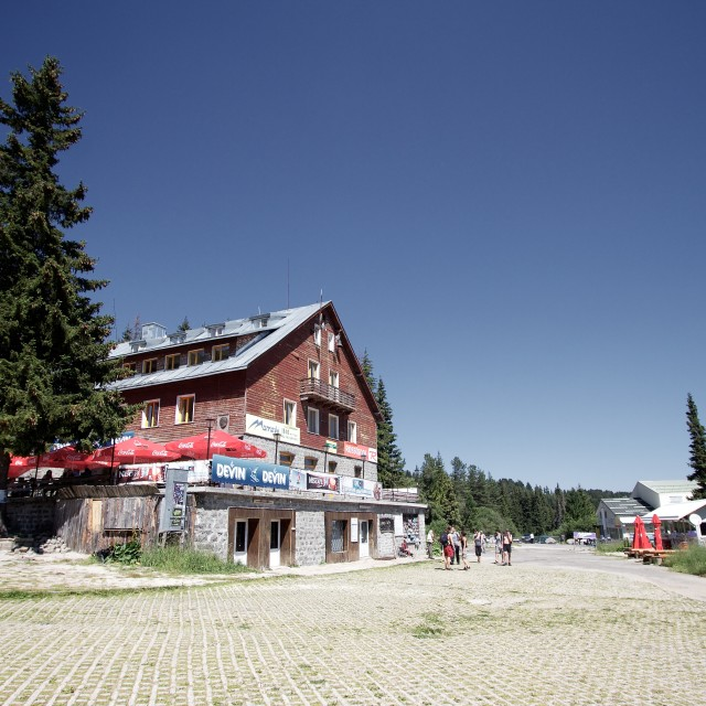 """Aleko Mountain Hut, Vitosha"" stock image"