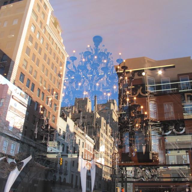 """Black Tie, Blue Sky, City High"" stock image"