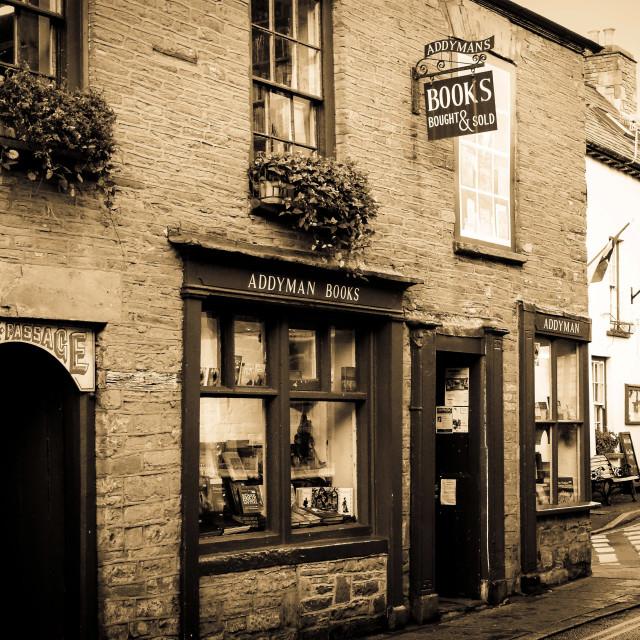 """""""Hay-on-Wye Bookshop"""" stock image"""