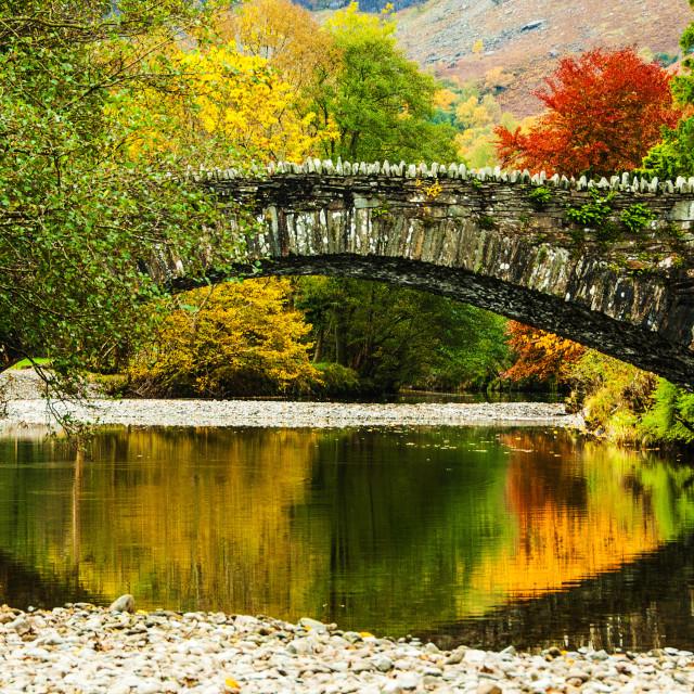 """""""Grange Bridge, Cumbria"""" stock image"""
