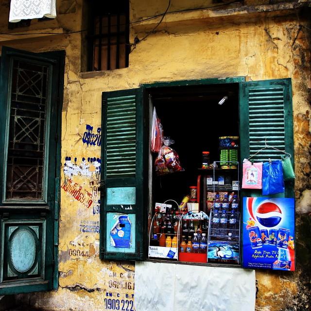 """""""A corner of Hanoi"""" stock image"""
