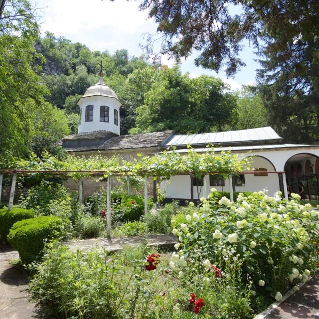 """Monastery Garden"" stock image"
