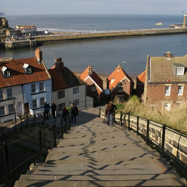 """Whitby's 199 Steps"" stock image"