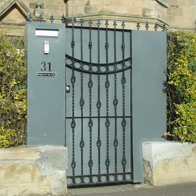 """""""Secure door"""" stock image"""