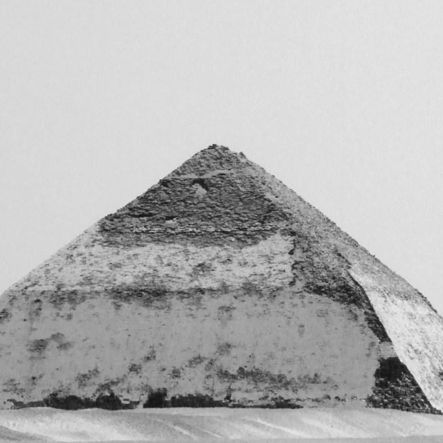 """The Bent Pyramid"" stock image"