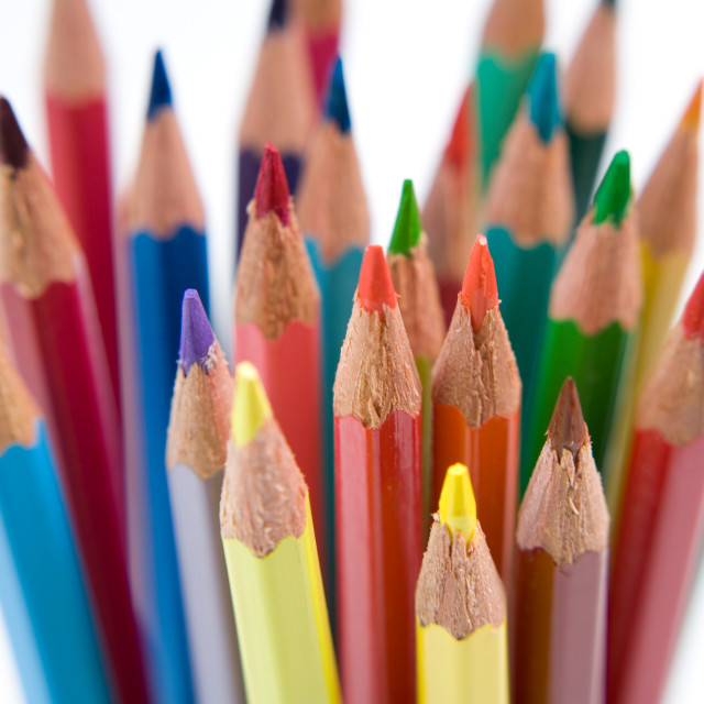 """Coloured Pencil Points-1"" stock image"