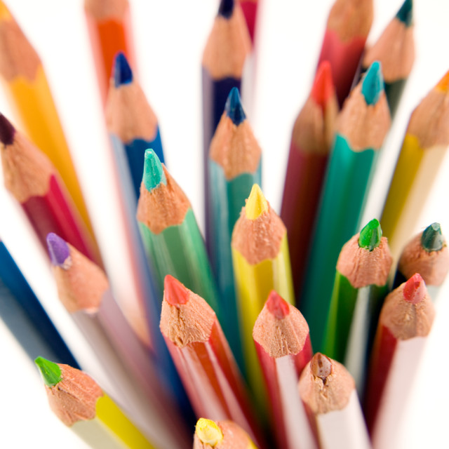 """Coloured Pencil Points-3"" stock image"