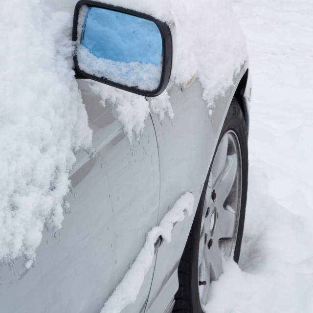 """""""Car covered in snow"""" stock image"""
