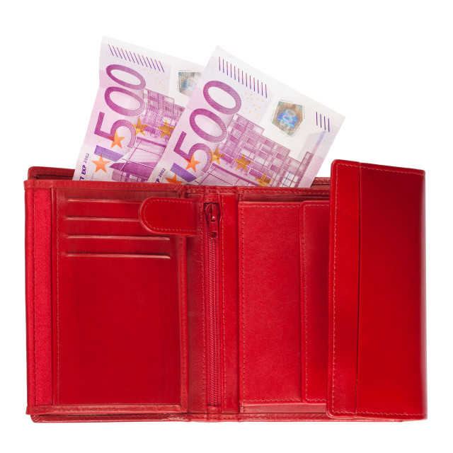 """Wallet with euros"" stock image"