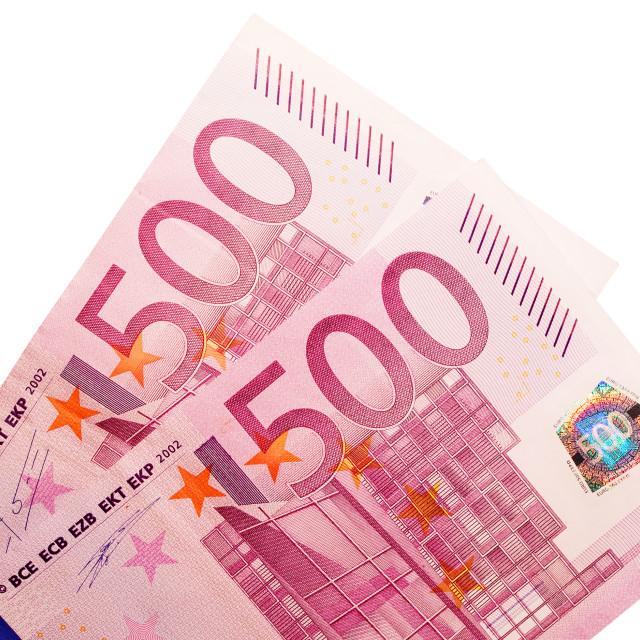 """""""One Thousand Euros"""" stock image"""