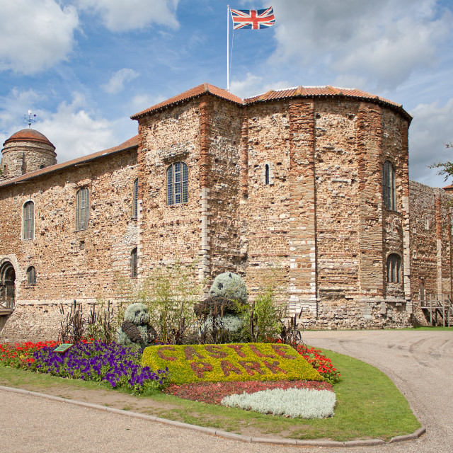 """""""Norman Castle in Colchester"""" stock image"""