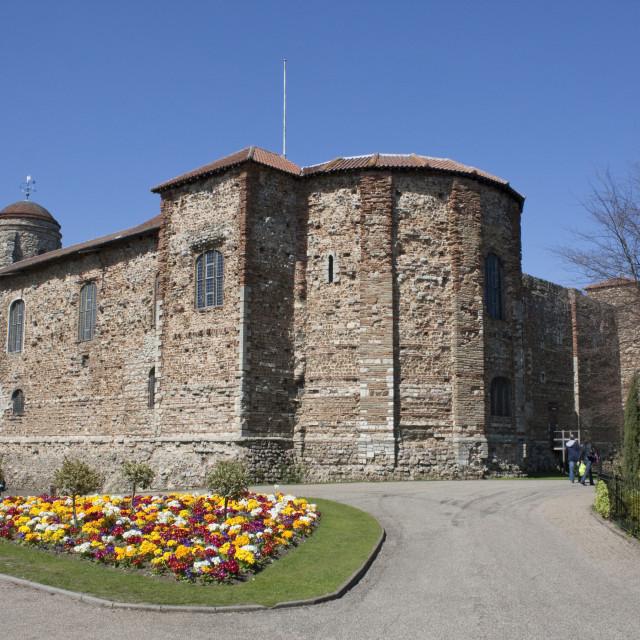 """Colchester Castle"" stock image"