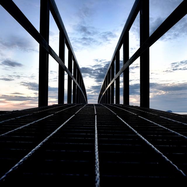 """Belhaven Bridge"" stock image"