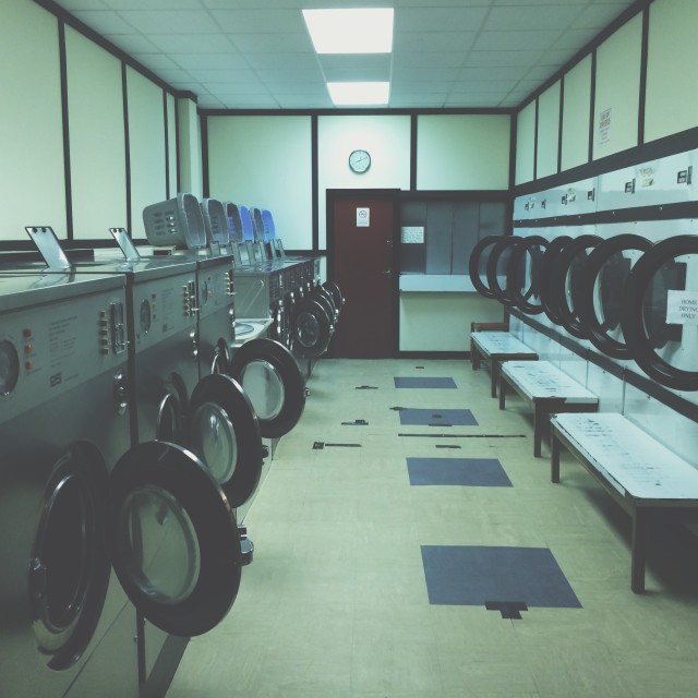 """Laundrette"" stock image"