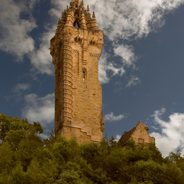 """Wallace Monument, Stirling, Scotland"" stock image"