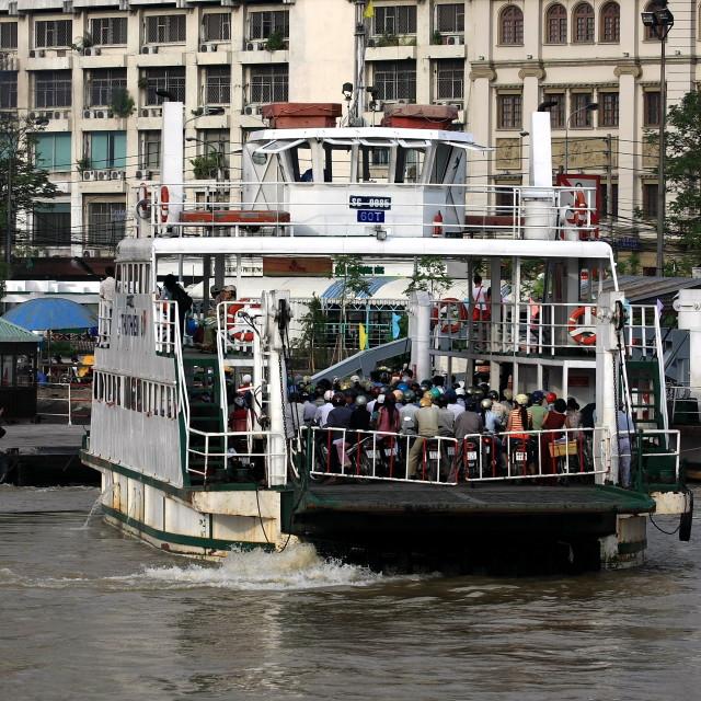 """""""Saigon ferry"""" stock image"""